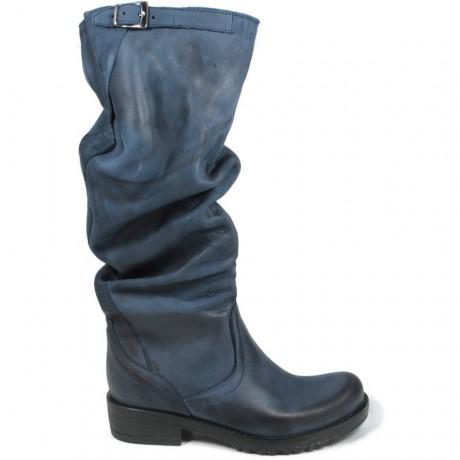 Stivali Biker Boots Alti 'BIK/A' - Blu
