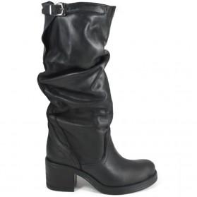 Biker Boots High '58/A' - Black