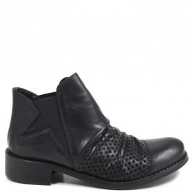 Stivaletti Ankle Chelsea Boots con Elastico '606' - Nero