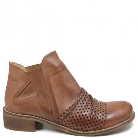 Stivaletti Ankle Chelsea Boots con Elastico '606' - Cuoio