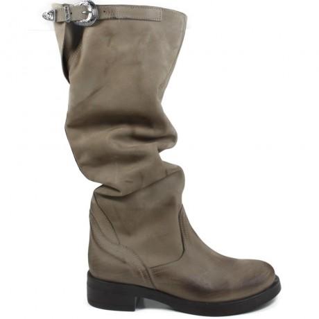 High Biker Boots 'Noa/A' - Taupe