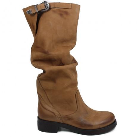High Biker Boots 'Noa/A' - Tan