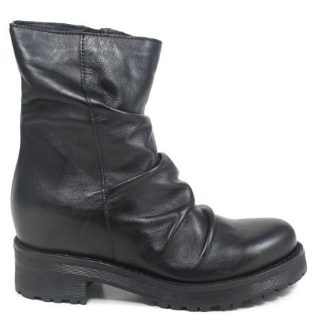 Hidden Wedges Boots with Zipper 'JASON' - Black
