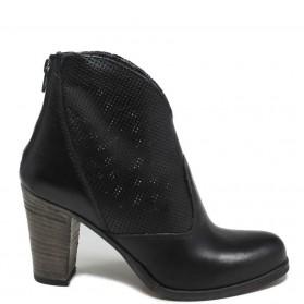 Tronchetti Ankle Boots Traforati '701/F' - Nero