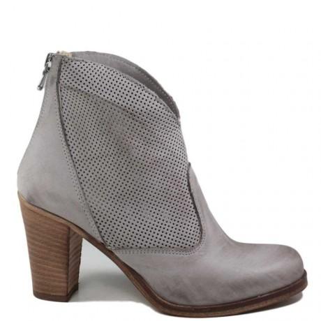 Tronchetti Ankle Boots Traforati '701/F' - Grigio