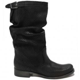 Biker Boots Perforated 'Bik/M' - Black