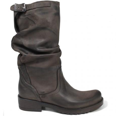 Stivali Biker Boots Metà Polpaccio 'BIK/M' - Testa di Moro