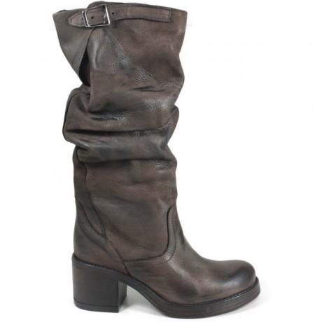 Stivali Biker Boots Alti con Tacco '58/A' - Testa di Moro