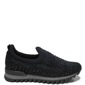 Sneakers Donna con Strass 'Skuba' - Nero