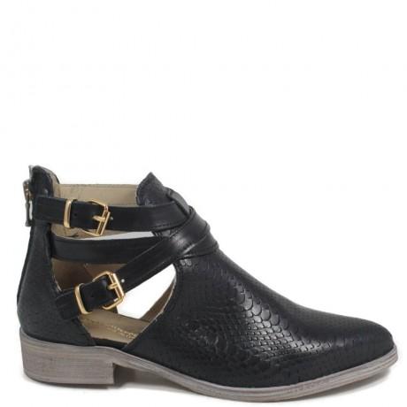 Stivaletti Cut Out Boots Traforati '473' - Nero