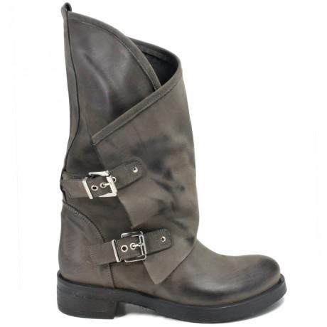 Stivali Biker Boots con due fibbie 'MANTRA/A' - Grigio