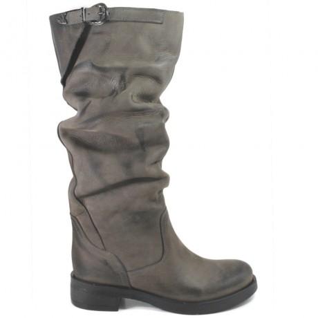 Stivali Alti Biker Boots 'NOA/A' - Grigio