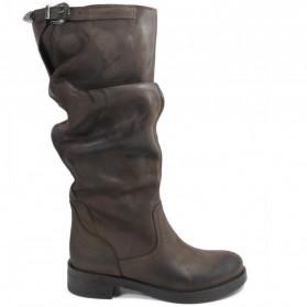 Stivali Alti Biker Boots 'NOA/A' - Testa di Moro - Ultima Taglia 35