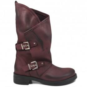 Stivali Biker Boots con due fibbie 'MANTRA/A' - Bordeaux