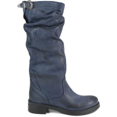 Stivali Alti Biker Boots 'NOA/A' - Blu
