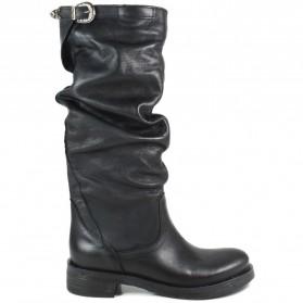 Stivali Biker Boots Alti 'NOA/A' - Nero