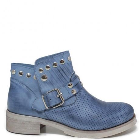 rivenditore di vendita 51f7d 1585a Stivaletti Ankle Boots Traforati con Borchie '4003' - Jeans