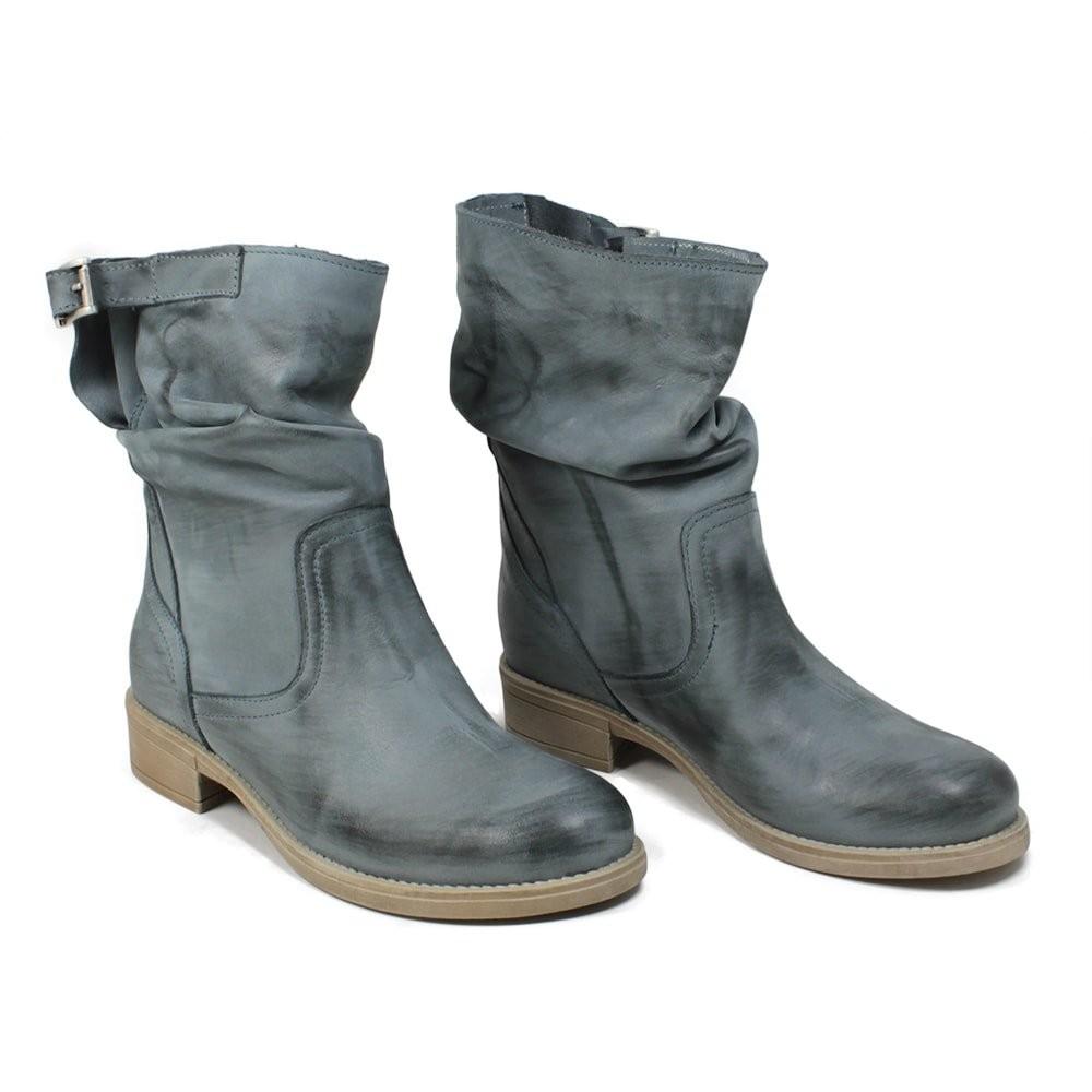 Stivali Traforati in Camoscio con Tacco '5020' - Jeans Cajón De Los Zapatos Venta 7EmOB