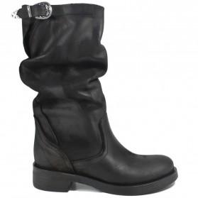 Biker Boots 'Noa/M' - Nubuck Black