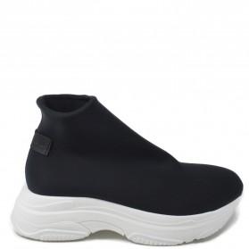 Sneakers Calzino Donna in Tessuto Elastico 'SOK' - Nero