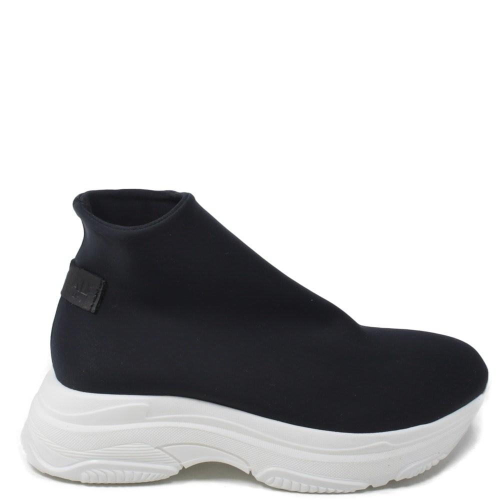 Sneakers Calzino In Tessuto Elasticizzato Nero Personal