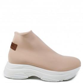 Sneakers Calzino Donna in Tessuto Elastico 'SOK' - Nude