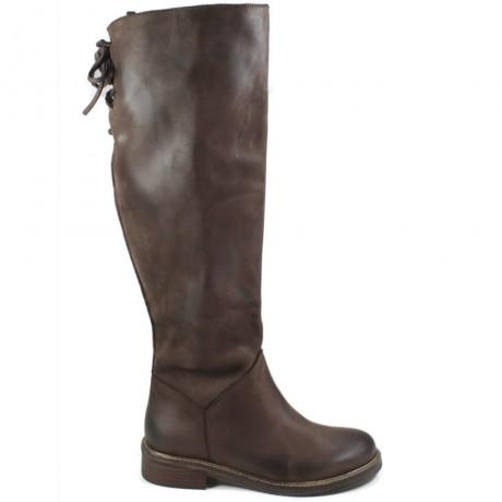 Tall Boots 'Street' - Nubuck Brown