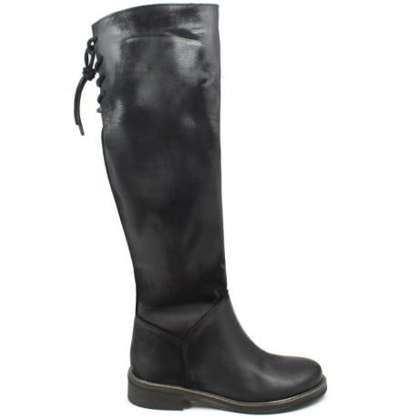 Tall Boots 'Street' - Nubuck Black